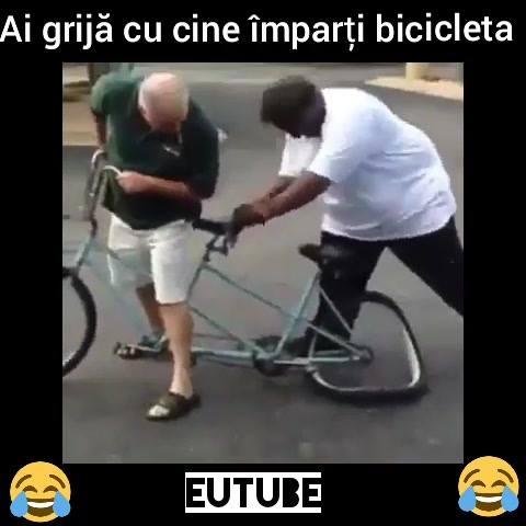 Ai mare grija cu cine imparti bicicleta